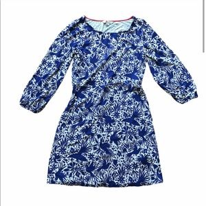 Boden Lucie Jersey Tunic Dress Blue Size 8 Long